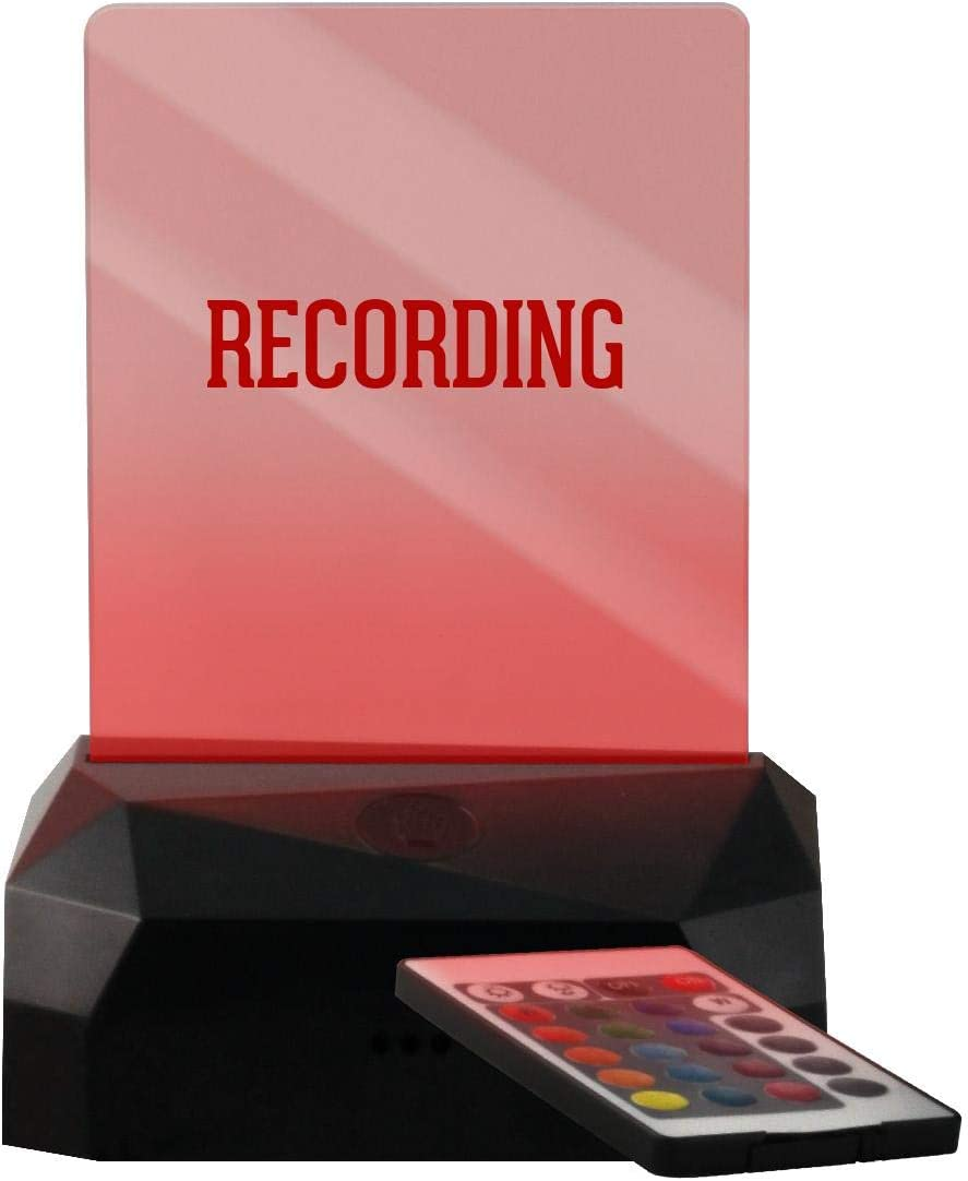Recording - LED USB Rechargeable Edge Lit Sign