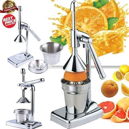 Acero Inoxidable Manual Juicer Comercial Exprimidor Manual de Cítricos Naranjas Limones