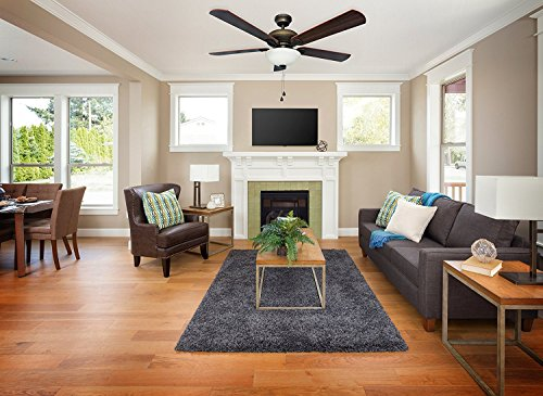 Energy Efficient 52 Inch LED Ceiling Fan with Nutmeg Espresso Blades and Whit...