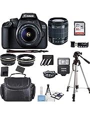 Canon EOS 4000D Digital SLR Camera w/ 18-55MM DC III Lens Kit (Black) with Accessory Bundle, Package Includes: SanDisk 32GB Card + DSLR Bag + 50'' Tripod+ Inspire Digital Cloth (International Model)