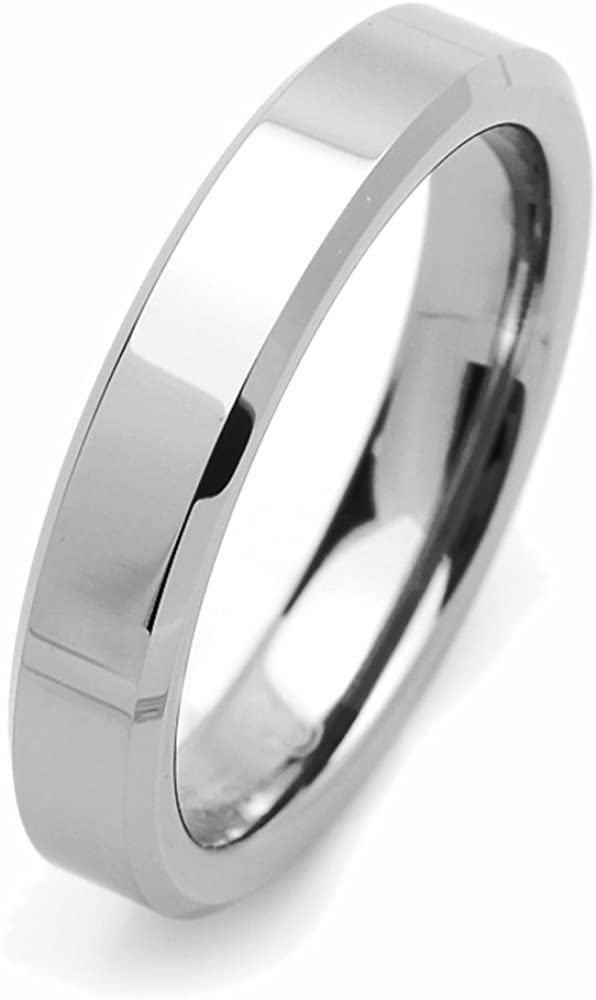 Cumstom Engraving 8mm Tungsten Comfort Fit Wedding Band Promise Ring Round Faceted Shiny Ring