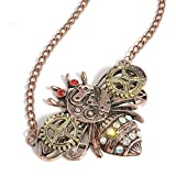 Colorido Unisex Vintage Owl Butterfly Bee Shape Pendant Necklace Jewelry (Bee)