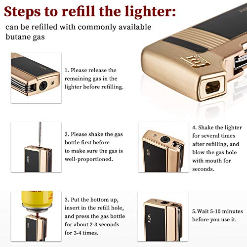 Tobacco Pipe Lighter, VVAY Metal Pipe Lighter Gas Butane - Import It All