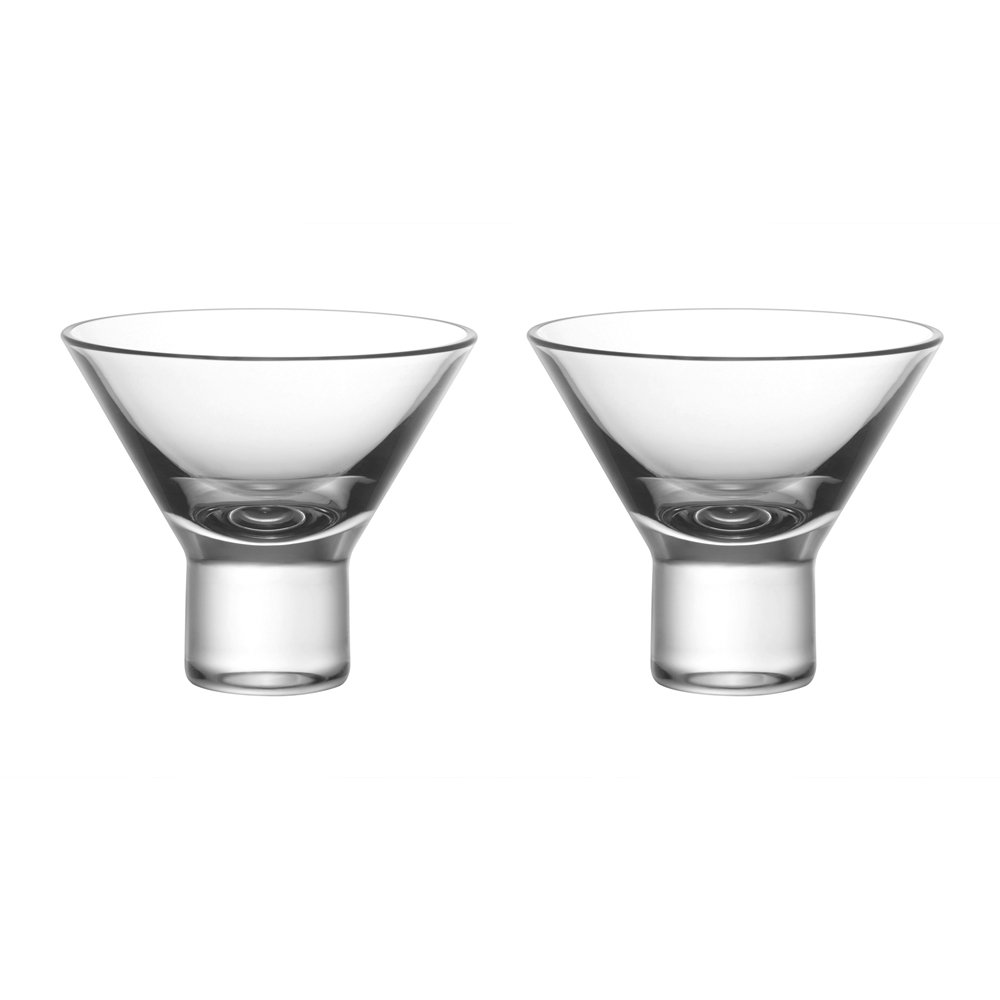 ZENS Lifestyle Sake Cups, Set of 2, Borosilicate Double-wall Clear Short Glass Cups for Wine Liquor, 1.5OZ/45ML