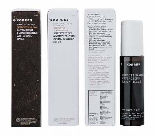 Korres Quercetin & Oak Anti-Aging & Anti-Wrinkle Day Cream SPF 12 ( For Normal to Dry Skin ) - 50ml/1.69oz by Korres