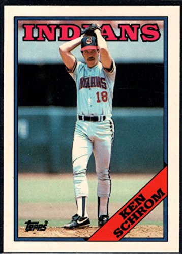 1988 Topps Tiffany Baseball #256 Ken Schrom Cleveland Indians Official MLB Premium Trading Card