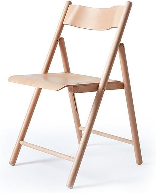 Chair QL sillones Plegables Sillón de Madera Natural de la Silla ...