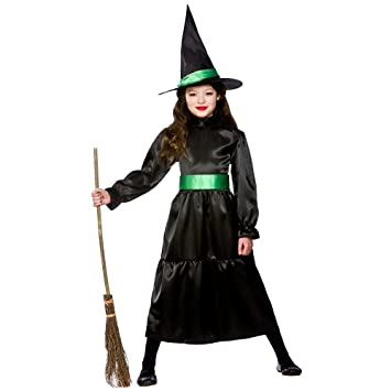 Scary Halloween Costumes For Kids Girls Uk.Kids Girls Wiched Witch Large Halloween 8 10 Years Spooky Fancy Dress Costume