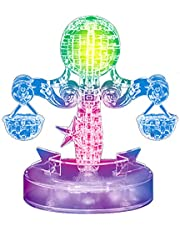 Graces Dawn Crystal Twelve Constellations Deluxe 3D Puzzle Colorful Crystal Decoration (Libra)