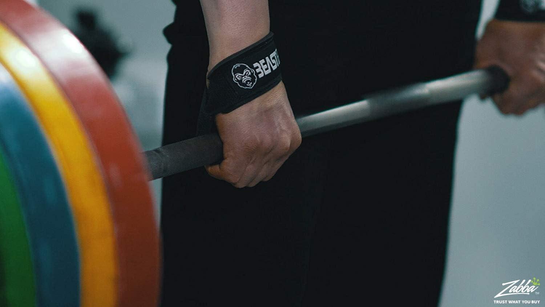 Lifting Straps Musculation Roar/® Sangles de Levage Musculation Sangle Halterophilie Bande Poignet avec Gel Strap Musculation Sangle Musculation Poignet Sangle de Tirage Musculation
