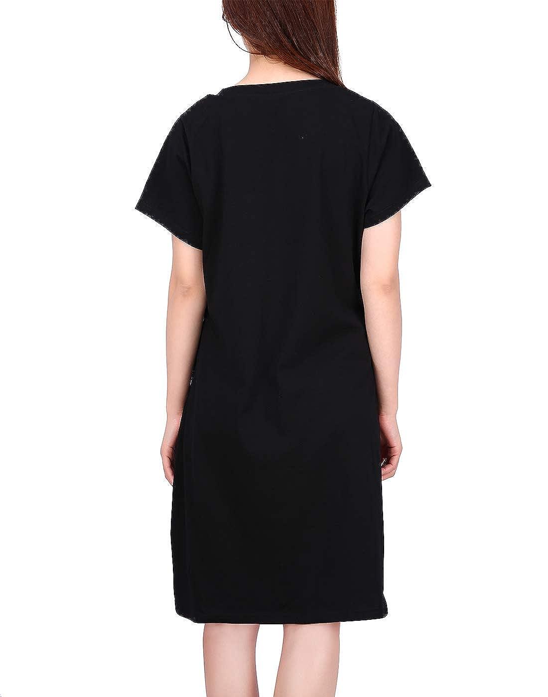 HDE Women s Sleep Shirt Dress Short Sleeve Nightgown Pajama Oversized  Nightshirt at Amazon Women s Clothing store  397a7a9ed