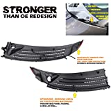 Outer Exterior Windshield Window Wiper Cowl Cover Panel Set of 2pcs For 04-08 Ford F-150 06-07 Lincoln Mark LT Left and Right 2004 2005 2006 2007 2008