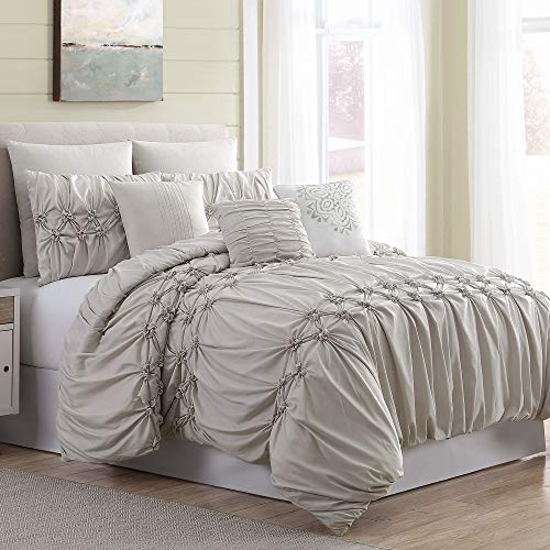 - Amrapur Overseas 8-Piece Sophie Comforter Set, King/California King, Sand