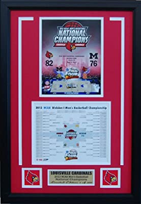 7387b0592 Louisville Cardinals 2013 NCAA Men s Basketball National Champions Road To  The Championship Brackets Collage! Limited Edition!