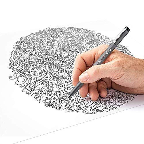Staedtler Pigment Liner black fineliner pens, full professional 12 pieces artist drawing technical drafting sets by Staedtler (Image #5)