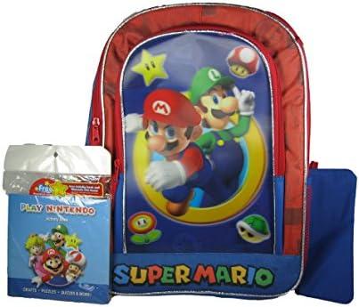 Super Mario Bros Deluxe 3d mochila con actividad Libro y estuche: Amazon.es: Juguetes y juegos