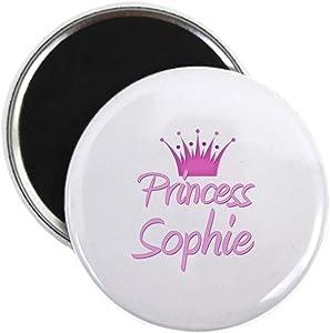 "CafePress Princess Sophie Magnet 2.25"" Round Magnet, Refrigerator Magnet, Button Magnet Style"
