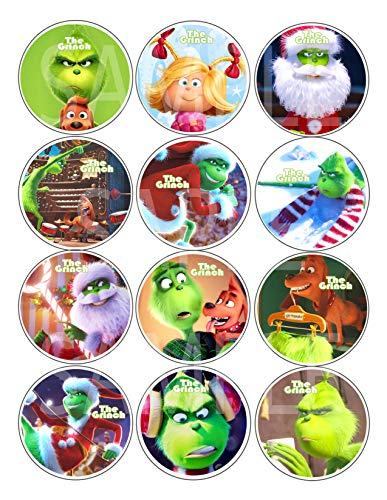 The Grinch Dr. Seuss Buttons Party Favors Supplies Decorations Collectible Metal Pinback Buttons Pins - Large 2.25