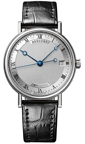 breguet-classique-womens-silver-dial-date-18k-white-gold-automatic-ladies-black-leather-strap-watch-