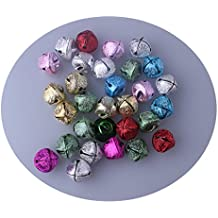 "0.5:"" JINGLE BELLS Christmas Crafts Red Gold Green Silver Metallic Glitter (SET A)"