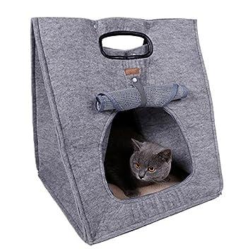 bailuoni 3 en 1 Funcional cachorro perro gato casa de la perrera Cama Naturaleza Pet Carrier: Amazon.es: Productos para mascotas