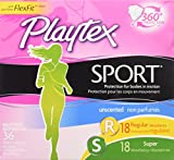 Health & Personal Care : Playtex Sport Tampon Multipack, Unscented, 36-count Box (Pack of 2)