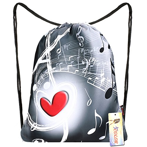iColor Drawstring Backpack Bag Sackpack Gym sack Sport Beach Daypack for Girls Men & Women Teen Dance Bag Cycling Hiking Team Training