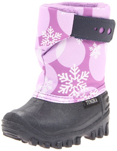 Tundra Teddy Winter Boot (Toddler/Little Kid), Navy/Plum, 4 M US Toddler (Navy Plum)