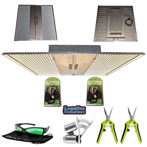 NextLight Mega Premium LED Grow Light Package | Includes 2X Grow Crew Ratchet Hangers, 2X Trimming Scissors, LED Glasses, and Phone Microscope | 5 Year Warranty | Legalize Tomatoes Sticker ()