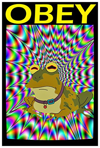 Futurama Costumes Bender (Hypnotoad Obey Poster Wall Print|Inspirational Motivational Classroom Home Office Dorm|18 X 12 In|SJC84)