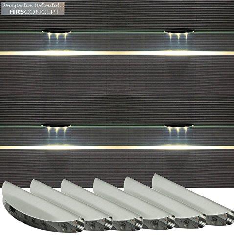 Glasbodenbeleuchtung LED Set / 2275WW / Glaskantenbeleuchtung / warm weiß / LED Clip / Vitrinenbeleuchtung / Glasplattenbeleuchtung / Möbelbeleuchtung (2-er Set)