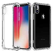 Sonolife - Funda para iPhone X Super Transparente con Esquinas reforzadas contra Golpes y Rayones