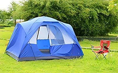 Semoo Waterproof 5 Person D-style Door Large Family Camping/Travelling Tent with Carry Bag