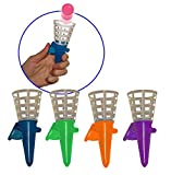 Handheld Pop Up Click Catch Cone Shooters with Balls Set of 12, Assorted Colors