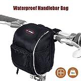 Waterproof Bicycle Handlebar Bag, LC-dolida Basket Bike Bag with Rainproof Cover