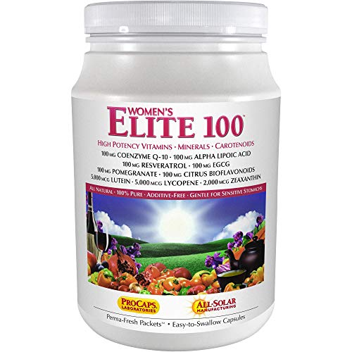 Andrew Lessman Multivitamin – Women's Elite-100 120 Packets – 40+ Potent Nutrients Plus 100mg Each Coenzyme Q10, Alpha Lipoic Acid, Resveratrol, EGCG, Pomegranate, Citrus Bioflavonoids. No Additives