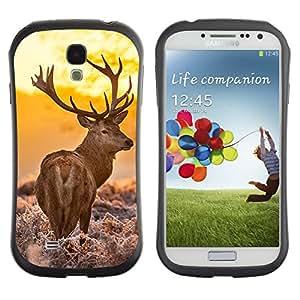 LASTONE PHONE CASE / Suave Silicona Caso Carcasa de Caucho Funda para Samsung Galaxy S4 I9500 / Majestic Stag Deer