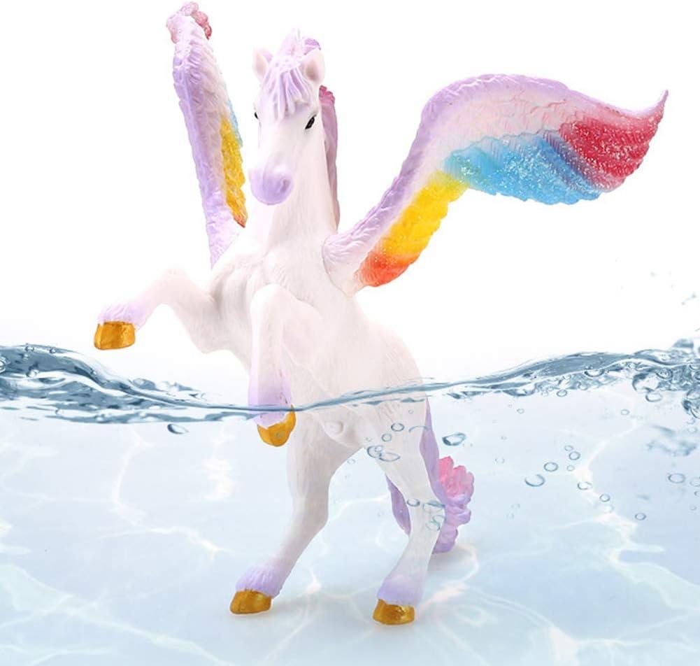 Seguro y Respetuoso con el Medio Ambiente para Que Jueguen Los Ni/ños Potro de Unicornio Marino BESLIME Juguete para Ni/ños Potro Unicornio Decoraci/ón de Pasteles