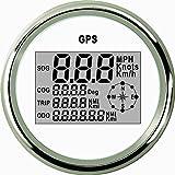 ELING Waterproof Digital GPS Speedometer Odometer Trip Meter Course for Auto Marine Truck with Backlight 3-3/8'' (85mm)