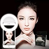 36 LED Light Ring Supplementary Selfie Lighting Night or Darkness Selfie Enhancing for Photography with iPhones and Android Smart Phones