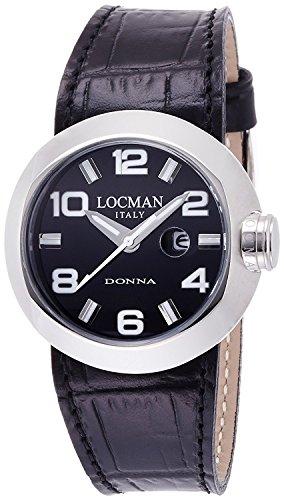 LOCMAN watch change one Donna quartz date belt 3 with this ladies 0421 042100BKNWH0PSK-KS-W Ladies
