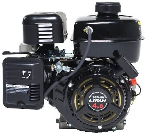 Lifan LF160F-AHQ 4 HP 118cc 4-Stroke OHV Industrial Grade Gas Engine with 6:1 Gear Reduction and 3/4'' Keyway Shaft, Recoil and Start Universal Mounting Pattern by Lifan