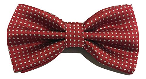 2 Tie Red Unisex Mens Bow Dickie Clip Polka Luxury L Wine Adjustable UK Layers Dot amp;L® IFvvRxwp