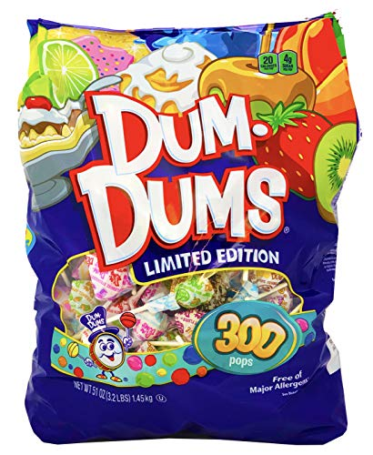 Spangler Dum Dums Lollipops Candy Limited Edition Flavors, 300 Pops (51 Ounces) -