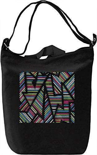 Abstract Pattern Borsa Giornaliera Canvas Canvas Day Bag| 100% Premium Cotton Canvas| DTG Printing|