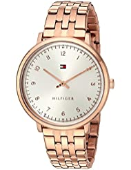 Tommy Hilfiger Womens SPORT Quartz Rose Gold-Tone Casual Watch (Model: 1781760)