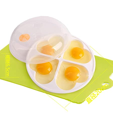 Yuaer Huevera de Doble Taza, Molde de Huevo de plástico de Amor ...