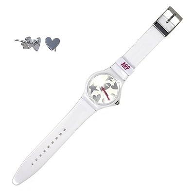 Juego Agatha Ruiz de la Prada reloj AGR216P pendientes plata [AB6019] - Modelo: AGR216P: Amazon.es: Joyería