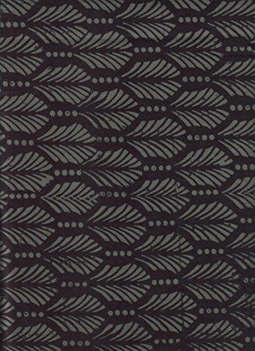 Black Feather Print Batik ~ HALF YARD!! ~ Java Block Printed (Tjap Stamped) Black Tone on Tone Bali Tie Dye (Ikat) Batik ~ Quilt 100% Cotton 44
