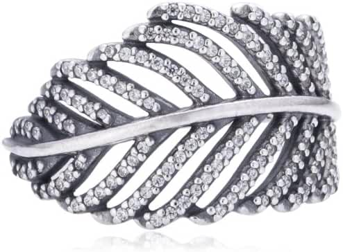 PANDORA Light as a Feather Clear CZ Ring Size 5 - 190886CZ-50